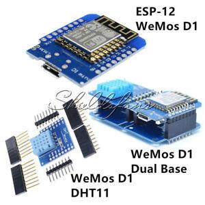 WeMos D1 Dual Base DHT11 ESP8266 ESP-12 NodeMCU Lua WIFI Development Board