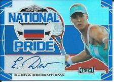 2016 Leaf Metal Tennis ELENA DEMENTIEVA #NP-ED1 Autograph National Pride 23/25