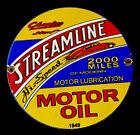 VINTAGE+CHARLSE+STREAMLINE+MOTOR+OIL+12%E2%80%9D+PORCELAIN+SIGN+CAR+GAS+TRUCK