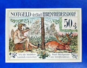 EHRENFRIEDERSDORF NOTGELD 50 PFENNIG 1921 EMERGENCY MONEY GERMANY (15842)