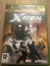 X-MEN XMEN LEGENDS II 2 L'AVÈNEMENT D'APOCALYPSE XBOX FRANÇAIS COMPLET RARE VF