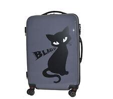 """Trolley H.DUE.O articolo TH 05 collezione """"Black Cat"""" Medio / grigio"""