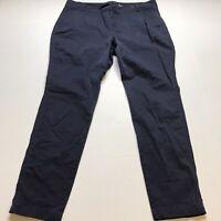 Old Navy Dark Blue Skinny Pants Size 14 Work Uniform Khaki A808