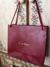 Cartier Paris Red Paper Shopping Bag Gold Accents