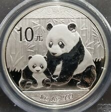 2012 CHINESE PANDA 10 YUAN 1OZ SILVER FIRST STRIKE PCGS MS69