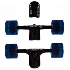 Easy People Longboards Black Truck set Blue wheels,Spacer,ABEC-7