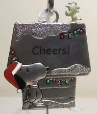 Hallmark Peanuts Snoopy & Woodstock  Metal Ornament - Cheers! - New