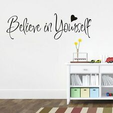 """56*20CM Inspirational Motto Vinyl Sticker Wall Decal """"Believe In Yourself"""""""