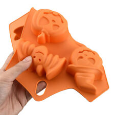 DIY Halloween Pumpkin Cake Mold 6 Cell Silicone Molds Ghost Bat Chocolate Mould