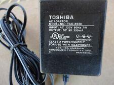 Toshiba Telephone AC Adaptor Adapter Class 2 Power Supply TAC-8930 9V