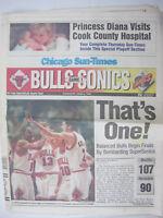 Chicago Sun Times June 1996 Bulls vs Sonics Game 1 Newspaper Jordan