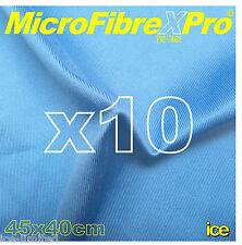 10 x LARGE PROFESSIONAL WINDOW GLASS MICROFIBRE CLEANING POLISH SCRIM CLOTHS