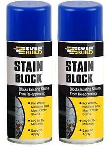 2 x Everbuild Stain Block Spray, 400 ml - Stain Blocker