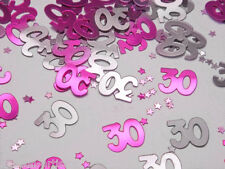 2 packs 30th anniversaire confettis foil paillette rose