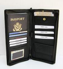 Passport Holder Travel Air Ticket Boarding Pass Insert Leather Deluxe Organizer