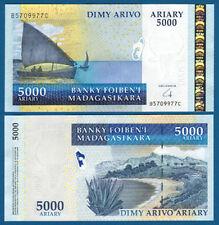 MADAGASKAR / MADAGASCAR  5000 Ariary (2008)  UNC  P. 91 b