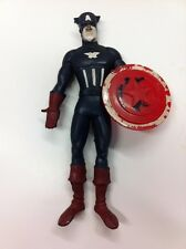 VINTAGE 1966 MARVELMANIA LAKESIDE CAPTAIN AMERICA SUPER FLEX FIGURE WITH SHIELD!