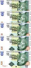 LOT, South Africa, 5 x 10 rand, (2009), P-128b, UNC, Rhino