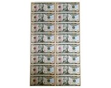 UNCUT 16 SUBJECT SHEET-$10x16 Legal US.10 DOLLAR Real Currency Note /Rare gift