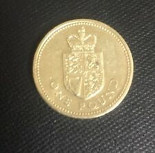 Crowned Shield Of The Royal Arms £1 Coin 1988 - One Pound Rare