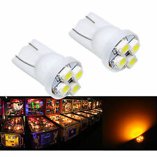 50x #555 T10 4SMD LED Pinball Machine Light Bulb Yellow Amber Orange 6.3V P2