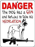 Belgian malinois aluminum dog sign 9 x 12