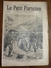 PETIT PARISIEN - 1896 N° 364 bagarre au MAS-D'ARGNAT une femme tuée