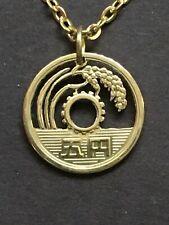 Japan 5 Yen Lucky Coin Cut Coin Pendant