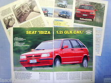 QUATTROR991-PROVA SU STRADA/ROAD TEST-1991- SEAT IBIZA 1.2i GLX CAT. -5 fogli
