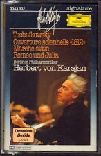 "HERBERT VON KARAJAN ""TCHAIKOWSKY OUVERTURE 1812 MARCHE SLAVE ""MUSICASSETTA NUOVA"