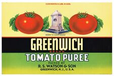 Cohansey Tomatoes Can Label Greenwich New Jersey Native American Indian