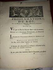 PROCLAMATION DU ROI CONCERNANT L'ARMÉE 1790