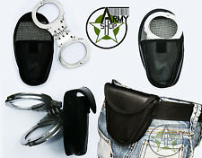 Security Handschellen mit Gelenk inkl. Gürteltasche Hand Fessel US Police Army
