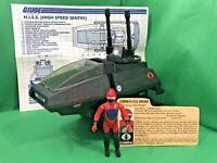 GI Joe ARAH 1983 Cobra HISS 100% COMPLETE WITH BLUEPRINTS DRIVER FILE CARD