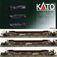 Kato 309054 Gunderson MAXI-IV Double Stack 3 Car Set BNSF Swoosh Logo HO Scale
