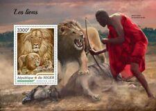 Niger - 2018 Lions on Stamps - Stamp Souvenir Sheet - NIG18422b