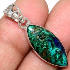 Azurite In Malachite - Morenci Mines 925 Silver Pendant Jewelry AP211575