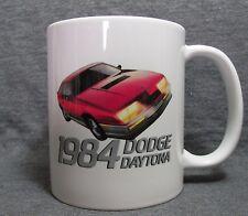 1984 Dodge Daytona Turbo Z Coffee Cup, Mug - Cool American Classic - Sharp - NEW