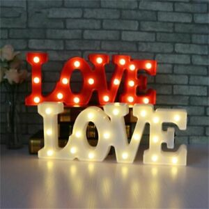 Valentines Day Gift Love Sign Night Lights Decoration Gift Led Lights Trendy New