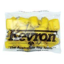 Bulk Office Key Tags Bag Of 50 YELLOW Plastic KEVRON Click Key Rings-FREE POST