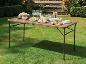 4ft/5ft Brown Foldable DIY table, Great for Parties or car boots - B Grade Stock