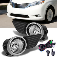Front Bumper Chrome Grille Fog Light w/Switch+wiring Set For Toyota Sienna 11-17