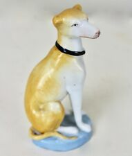 Small Ceramic Greyhound Porcelain Whippet Statue Vintage Figurine 5.5 in High