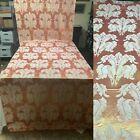 VTG+1930-40%E2%80%99+Art+Deco+Brocade+Fabric+Yardage.+Peach+w%2FCream+Plumes.+3+2%2F3+Yards