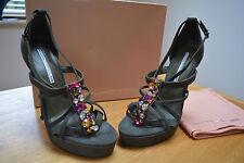 Studio TMLS Renaissance Grey Suede Strappy Platform Sandals UK 6 BNIB rrp £160
