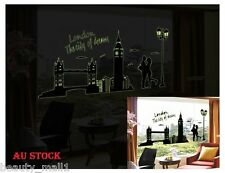 London Bridge Big Ben Removable Home Decor Glow In Dark Wall Stickers Decal Art