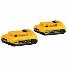 2 New Dewalt 20 Volt Max XR 2.0 AH Lithium Ion Batteries Model # DCB203
