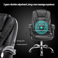 Racing Gaming Chair Ergonomic Massage High Back Office Recliner Adjustale Height