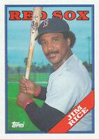 Jim Rice 1988 Topps #675 Boston Red Sox baseball card HOF