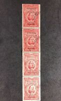 us stamps scott R556 Series 1950 Pane Of 4 $50 Lot 3